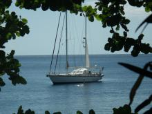 Super Maramu : At anchor in Caribbean